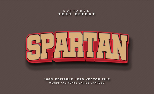 Spartański efekt tekstowy darmowych wektorów eps