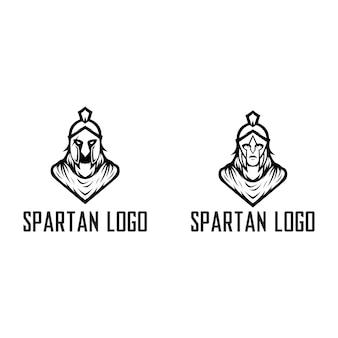 Spartański szablon logo