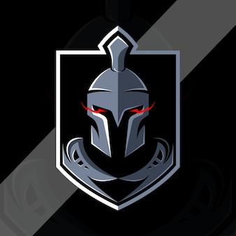 Spartańskie logo esport w stylu vintage