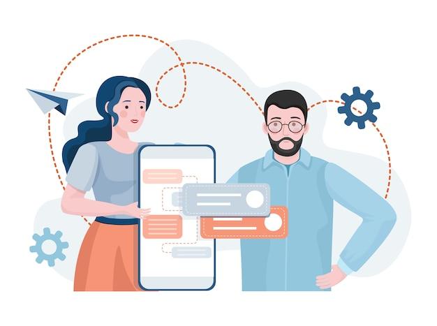 Specjaliści opracowujący aplikacje mobilne, pracujący nad projektowaniem stron internetowych lub aplikacji.