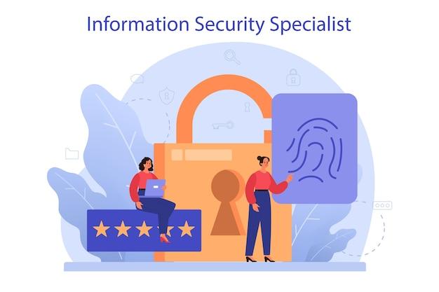 Specjalista ds. bezpieczeństwa cybernetycznego lub internetowego.