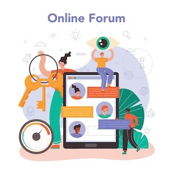 Specjalistyczna usługa online lub platforma seo. idea wyszukiwarki