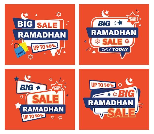 Specjalna duża wyprzedaż na ramadhan gorąca sprzedaż flash sprzedaż baner wektor super sprzedaż ramadhan