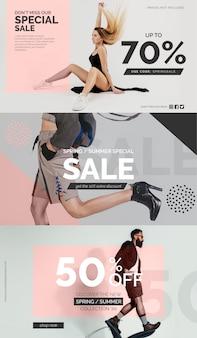 Specjalna kolekcja szablon transparent sprzedaż