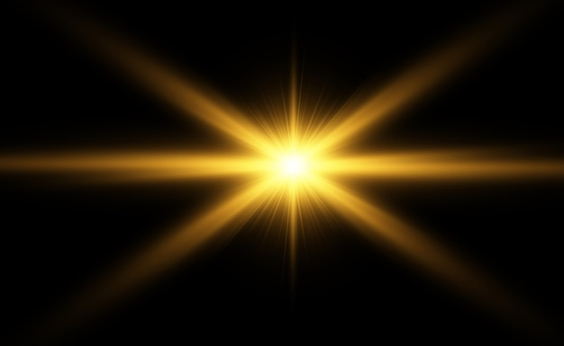 Specjalna lampa błyskowa, efekt świetlny. błysk miga promienie i reflektor.
