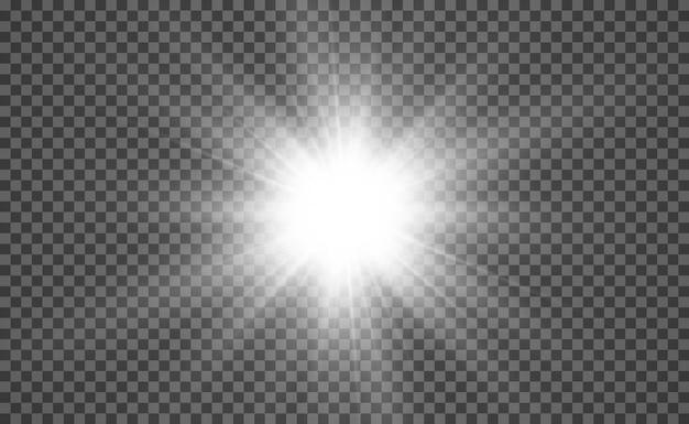 Specjalna lampa błyskowa na przezroczystym tle