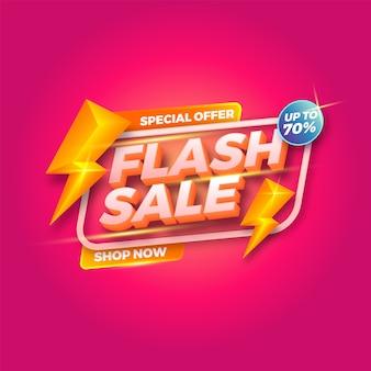 Specjalna oferta flash sprzedaż banery szablon. sprzedaż banerów. promocja zakupów.