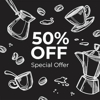 Specjalna oferta kawiarni, 50 idealnych ofert w sklepie