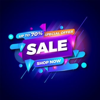 Specjalna oferta sprzedaży banery szablon. sprzedaż banerów. promocja zakupów.