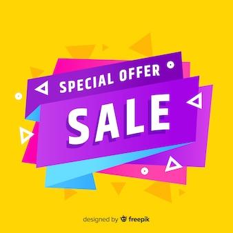 Specjalna oferta sprzedaży banner projektu