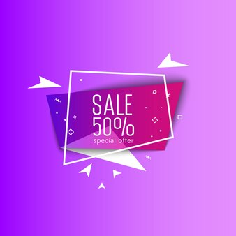 Specjalna oferta sprzedaży jasne transparent