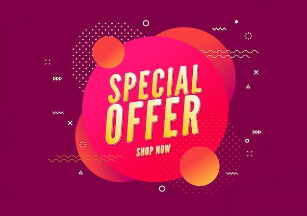 Specjalna oferta sprzedaży szablonu projektu transparentu.