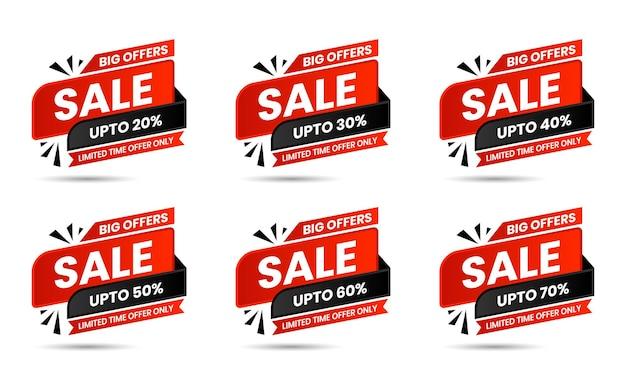 Specjalna oferta sprzedaży w kolorze czerwonym i czarnym oraz metki cenowe