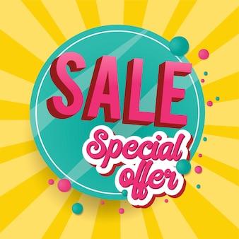 Specjalna oferta sprzedaży