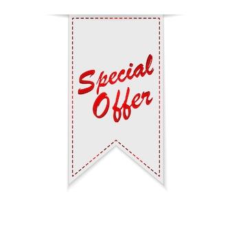 Specjalna oferta wstążki lub etykiety