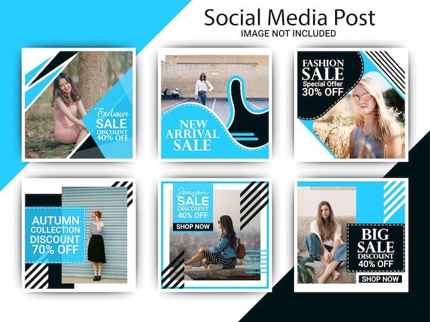Specjalna sprzedaż mody w mediach społecznościowych