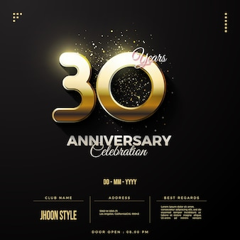 Specjalna złota edycja na zaproszenie na obchody 30-lecia