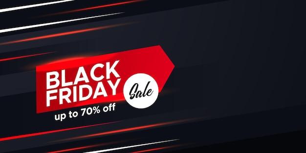 Specjalna zniżka promocyjna w czarny piątek oferta sprzedaży baner elegancki szablon reklamowy