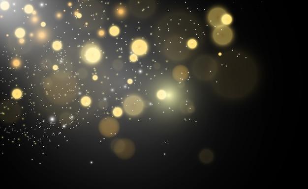 Specjalne błyszczy światła. efekt świetlny bokeh