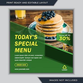 Specjalne menu kulinarne w mediach społecznościowych