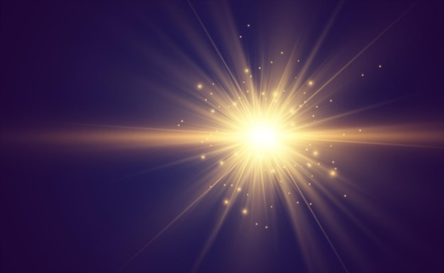 Specjalny efekt lampy błyskowej obiektywu lampa błyskowa emituje promienie, a szperacz ilustruje białe świecące światło