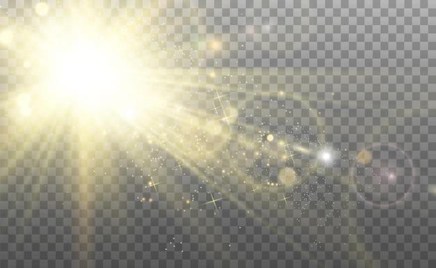 Specjalny efekt światła lampy błyskowej obiektywu