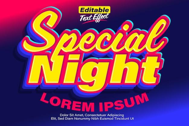 Specjalny nocny żółty neonowy efekt tekstowy