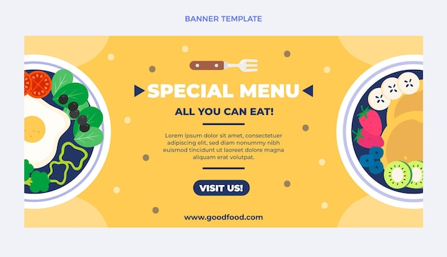 Specjalny szablon banera projektu menu