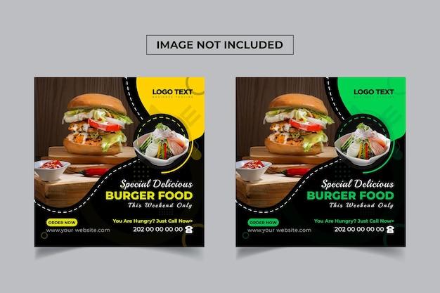 Specjalny szablon banera społecznościowego burger