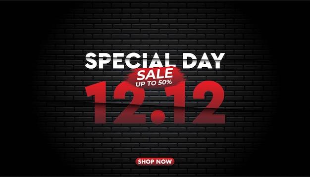 Specjalny szablon tło sprzedaży dzień zakupów.