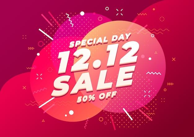 Specjalny szablon transparent sprzedaż dzień zakupów. wyprzedaż na koniec roku.