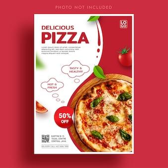 Specjalny szablon transparentu promocji pizzy