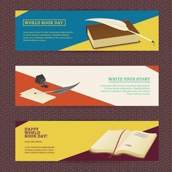 Specjalny zestaw banery na światowy dzień książki