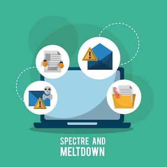 Specter and meltdown laptop virus atakuje system infekcji
