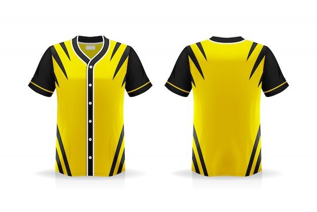 Specyfikacja baseball t shirt na białym tle, puste miejsce na koszulce i umieszczanie elementów lub tekstu na koszulce, puste do drukowania, ilustracja