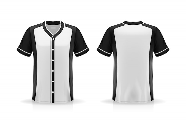 Specyfikacja baseballu t koszula makieta na białym tle