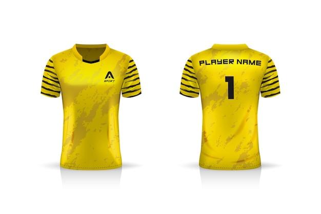 Specyfikacja soccer sport, szablon koszulki esports gaming t shirt. mundur .