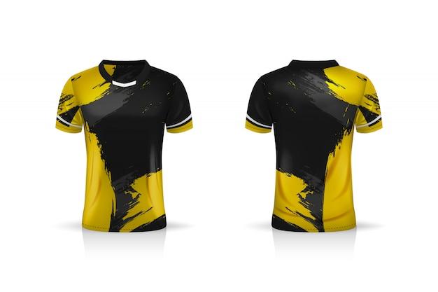 Specyfikacja soccer sport, szablon koszulki z krótkim rękawem esport gaming. mundur .