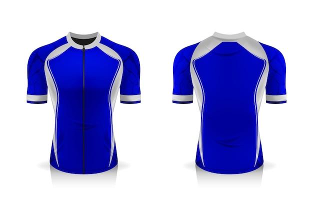 Specyfikacja szablonu koszulki kolarskiej. sportowa koszulka z okrągłym dekoltem do odzieży rowerowej.