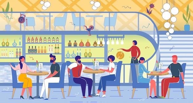 Speed dating party w restauracji lub barze.