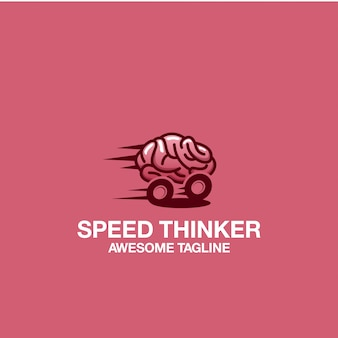Speed thinker logo design awesome inspiration inspirations