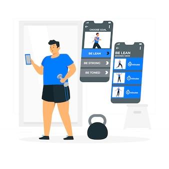 Spersonalizowana ilustracja koncepcji treningów
