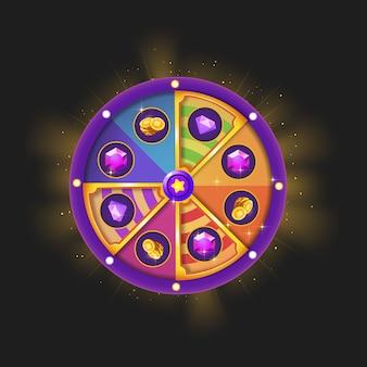 Spin wheel for game ui.reward spinner assets