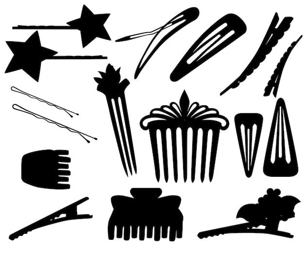 Spinki do włosów i spinka do włosów dla koncepcji kobiecego salonu
