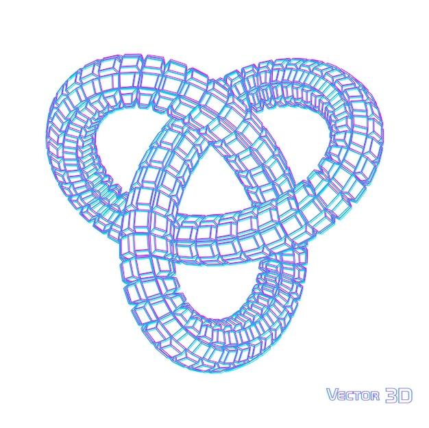 Spirala geometrii 3d .technologia abstrakcyjna .