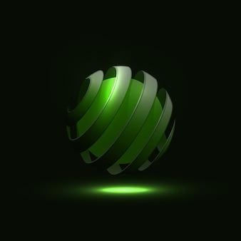 Spirala kula abstrakcyjne linie.