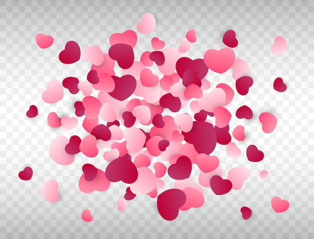 Splash konfetti serca