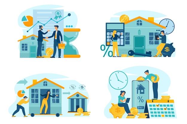 Spłata kredytu hipotecznego online piękna ilustracja