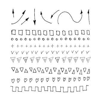 Splątane abstrakcyjne bazgroły z ręcznie narysowaną linią doodle elementów