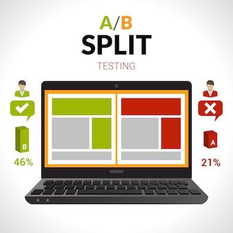 Split testing concept